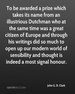 To be awarded a prize which 