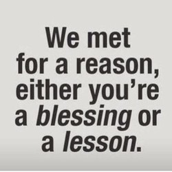 We met 