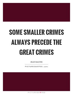SOME SMALLER CRIMES 