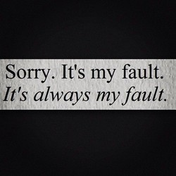 Sorry. It's my fault, 
