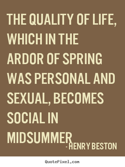 THE QUALITY OF LIFE, 