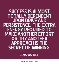 SUCCESS IS ALMOST 
