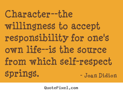 Character--the 