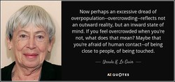 Now perhaps an excessive dread of 