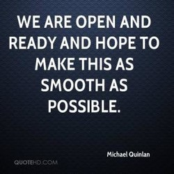 WE ARE OPEN AND 