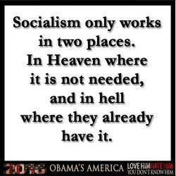 Socialism only works 