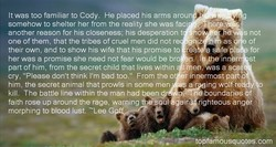 It was too familiar to Cody. He placed his arms arou 