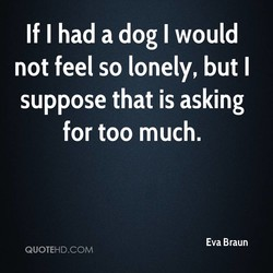 If I had a dog I would 