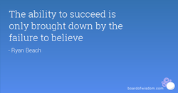 The ability to succeed is 