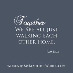 WE ARE ALL JUST 