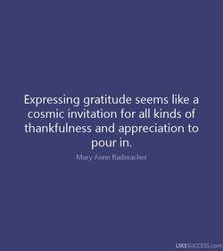 Expressing gratitude seems like a 
