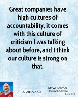 Great companies have 
