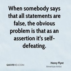 When somebody says 