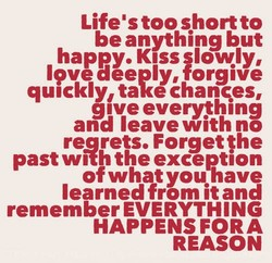 LifeUs too short to 