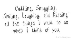 Cuddling) Snuggling) 