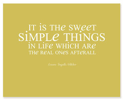 IT is THe sweeT 