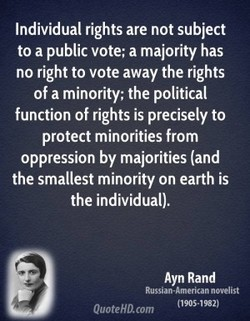 Individual rights are not subject 