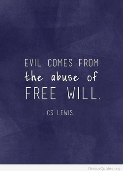 EVIL COMES FROM 