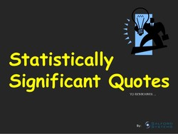 Statistically 