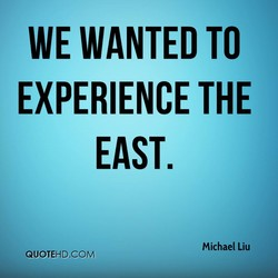 WE WANTED TO 