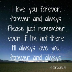 I love you forever, 