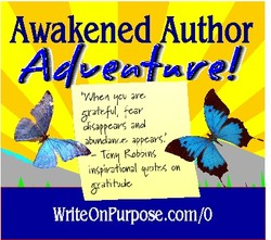 Awakened Author ave, d;gappeayg appears. • Mal oh WflteOnPurpose.com/0