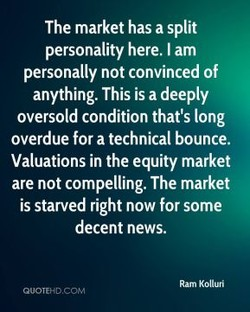 The market has a split 