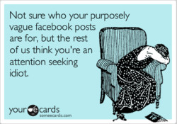 Not sure who your purposely 