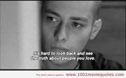 hard to look beck and see 