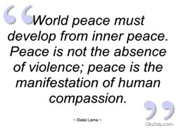 •World peace must 