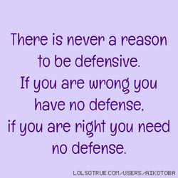 There is never a reason 
