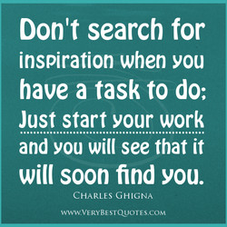 Don't search for 