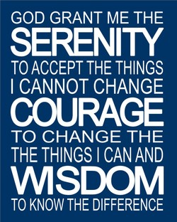 GOD GRANT ME THE 