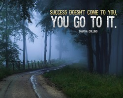 SUCCESS DOESN'T COME TO YOU, 