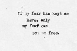If ray fear has kept me 
