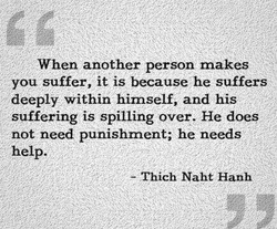 When another person makes 
