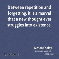 Between repetition and 
