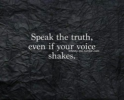 Speak the truth, 