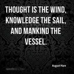 THOUGHT IS THE WIND, 