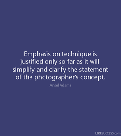 Emphasis on technique is 