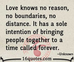 Love knows no reason, 