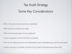 Tax Audit Strategy 