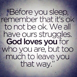 'Before you sleep, 