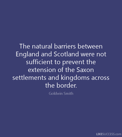 The natural barriers between 