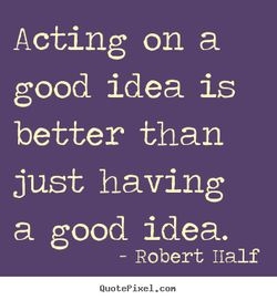 Acting on a 