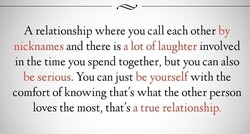 A relationship where you call each other by 