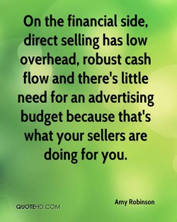 On the financial side, 
