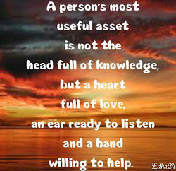 A persons most 