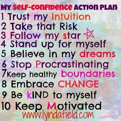 MY seLF-conFIDence ACTIOn PLAn 