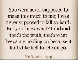 You were never supposed to 